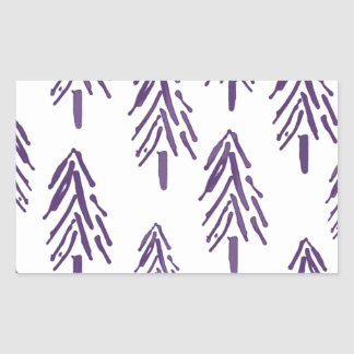 Evergreen Trees in Purple
