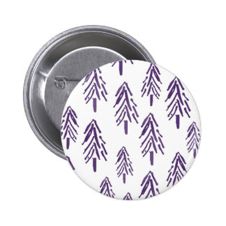 Evergreen Trees in Purple 2 Inch Round Button