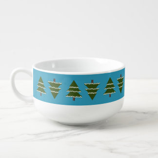 Evergreen Trees With Snow Soup Mug