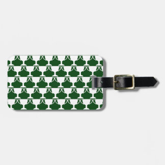 Evergreen Victorian Lace Luggage Tag