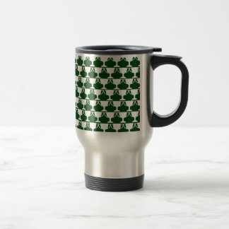 Evergreen Victorian Lace Travel Mug