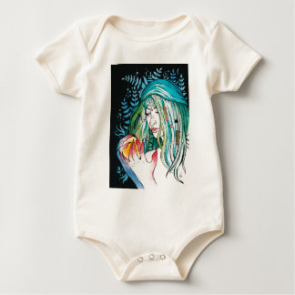 Evergreen - Watercolor Portrait Baby Bodysuit