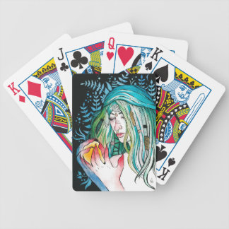 Evergreen - Watercolor Portrait Bicycle Playing Cards