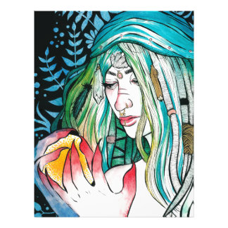Evergreen - Watercolor Portrait Letterhead