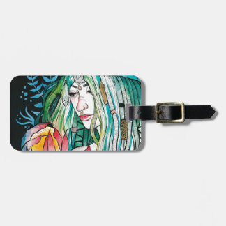Evergreen - Watercolor Portrait Luggage Tag
