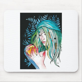 Evergreen - Watercolor Portrait Mouse Pad