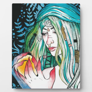 Evergreen - Watercolor Portrait Plaque