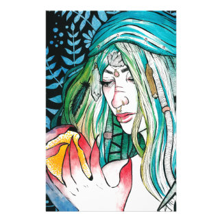 Evergreen - Watercolor Portrait Stationery