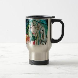 Evergreen - Watercolor Portrait Travel Mug