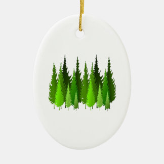 EVERGREEN WAYS CERAMIC ORNAMENT