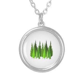 EVERGREEN WAYS SILVER PLATED NECKLACE