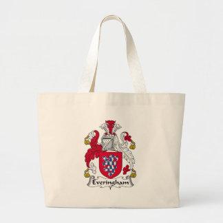 Everingham Family Crest Large Tote Bag