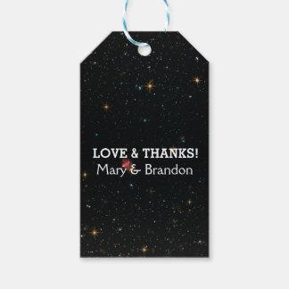 Everlasting Star Universe Nebula Wedding Gift Tags