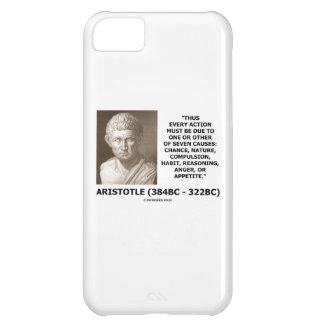 Every Action Must Due One Seven Causes Aristotle Cover For iPhone 5C