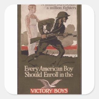 Every_American_Boy_Should_Propaganda Poster Square Sticker