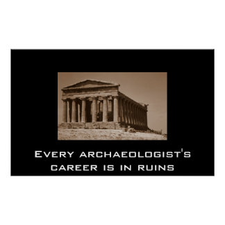 every archaeologist's career is in ruins poster