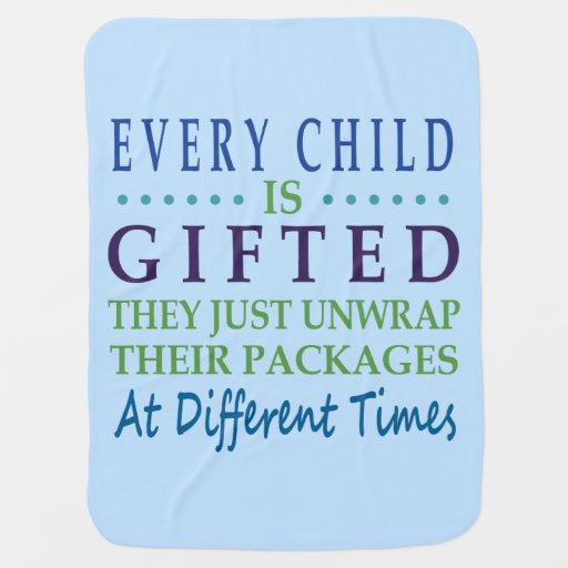 Every Autistic Child is Gifted Stroller Blanket