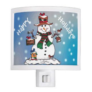 Every Birdie Welcome - Snowman Night Light