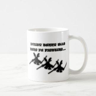 Every bunny was kung fu fighting... coffee mug