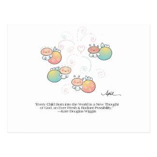 EVERY CHILD BORN Postcard by April McCallum