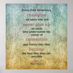 Every Child Deserves A Champion Print