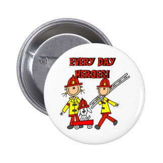 Every Day Heroes Firefighters T-shirts and Gifts 2 Inch Round Button