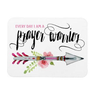 Every Day I am A Prayer Warrior Magnet