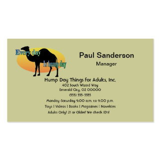 Every Day is Hump Day Pack Of Standard Business Cards