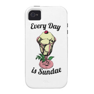 Every Day is Sundae Vibe iPhone 4 Covers