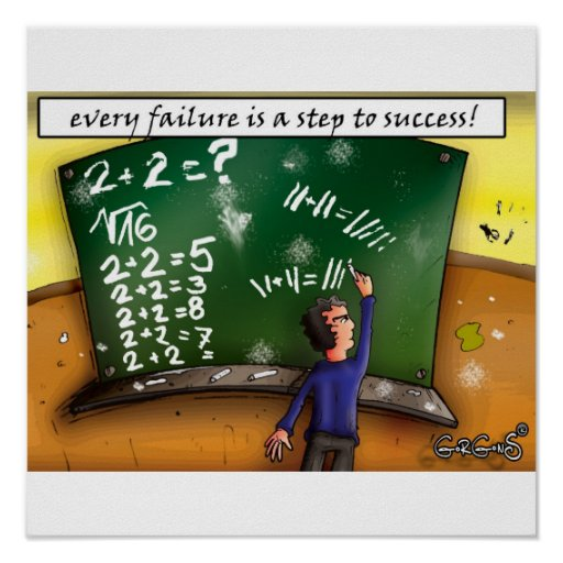 Every failure is a step to success poster