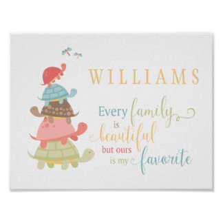 Every Family is Beautiful typography Poster