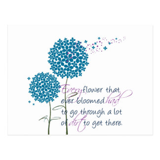Every flower that ever bloomed... postcard
