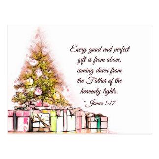 Every Good and Perfect Gift James 1:17, Christmas Postcard