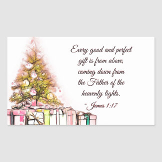 Every Good and Perfect Gift James 1:17, Christmas Sticker