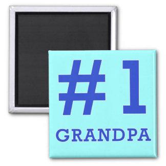 Every Grandpa Deserves a #1 Grandpa Tshirt! Refrigerator Magnets
