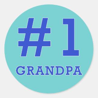 Every Grandpa Deserves a #1 Grandpa Tshirt! Stickers