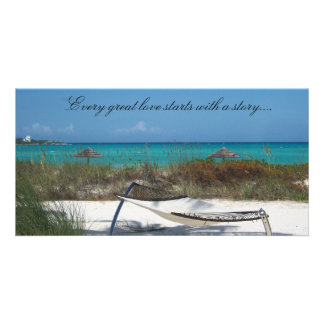 Every great love starts with a story..... photo greeting card