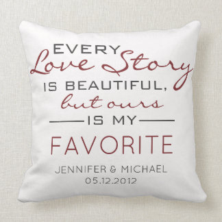 Every Love Story Couples Photo Throw Pillow