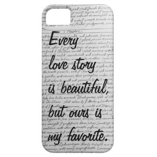 Every Love Story is Beautiful, Our Story iPhone 5 iPhone 5 Cover