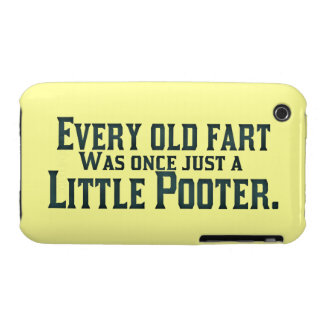 Every Old Fart Was Once Just A Little Pooter iPhone 3 Case