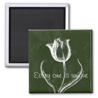 Every One is Unique Square Magnet