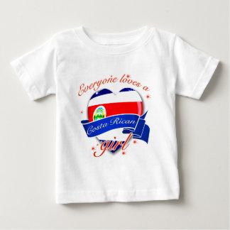 Every one loves a Costa rican Girl Baby T-Shirt