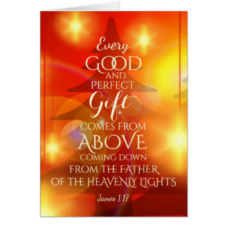 Every Perfect Gift comes from Above, Christmas Card