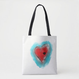 Every Pet deserves . . . .heart paw print tote bag