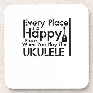 Every Place is a Happy Ukulele Uke Music Lover Coaster