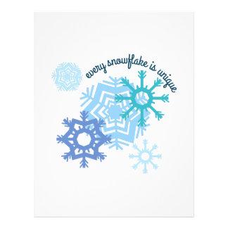 Every Snowflake Is Unique Letterhead