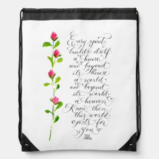 Every spirit inspirational quote typography drawstring bag