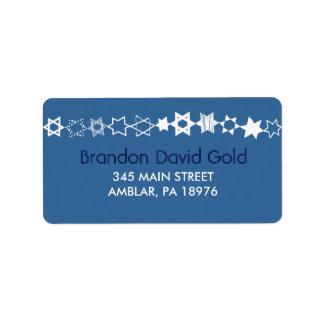 EVERY STAR IS UNIQUE Bar Bat Mitzvah Address Label
