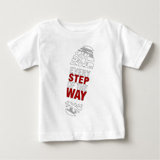 Every Step Of The Way Running Funny Gift Baby T-Shirt