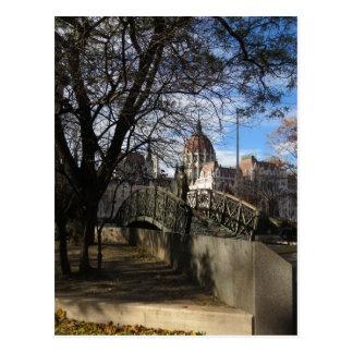 """""""every third hour"""" - Parliament, Budapest Postcard"""